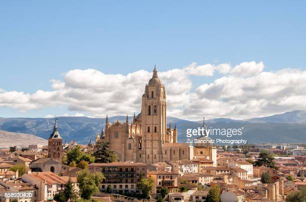 segovia cathedral - segovia stock pictures, royalty-free photos & images