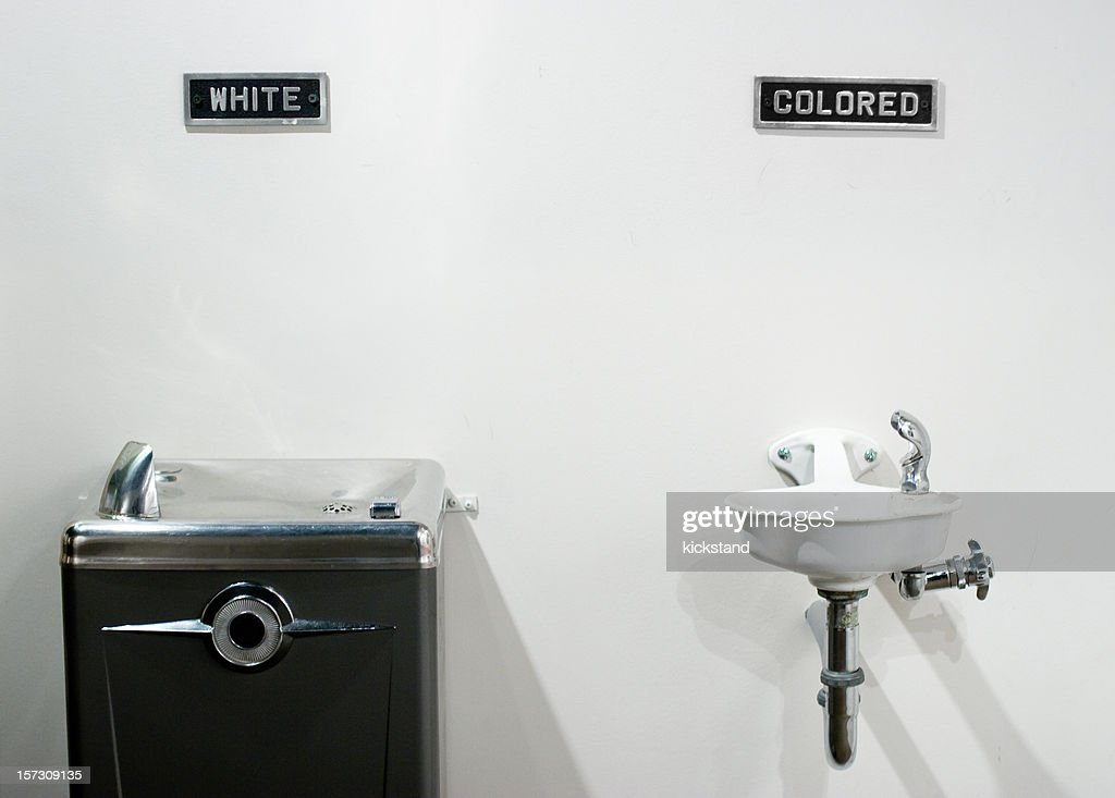 Segregated Water Fountains Stock Photo Getty Images