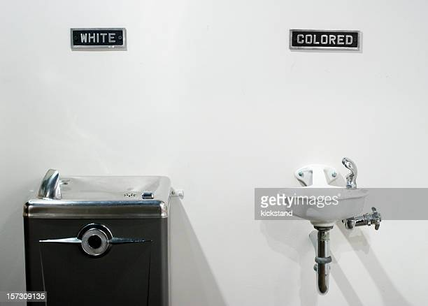 segregated water fountains - black civil rights stock pictures, royalty-free photos & images