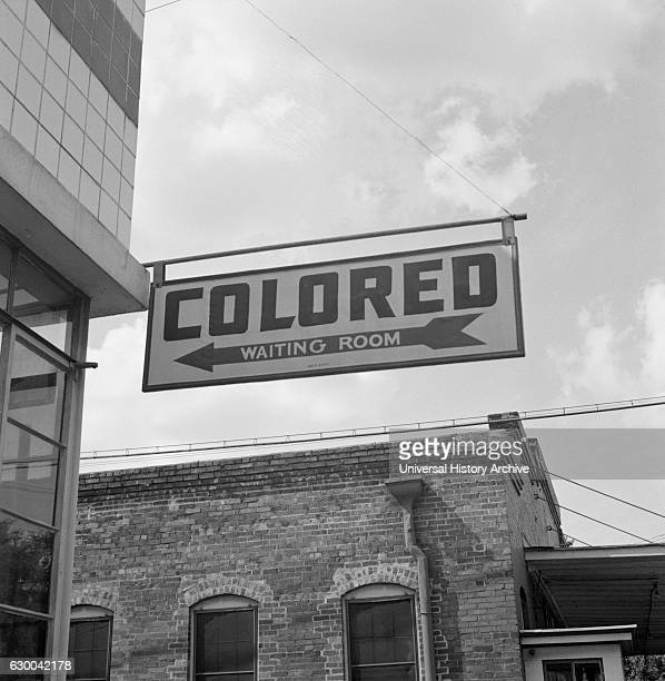 Segregation Sign at Greyhound Bus Terminal on Trip from Louisville, Kentucky, to Memphis, Tennessee, USA, Esther Bubley for Office of War...