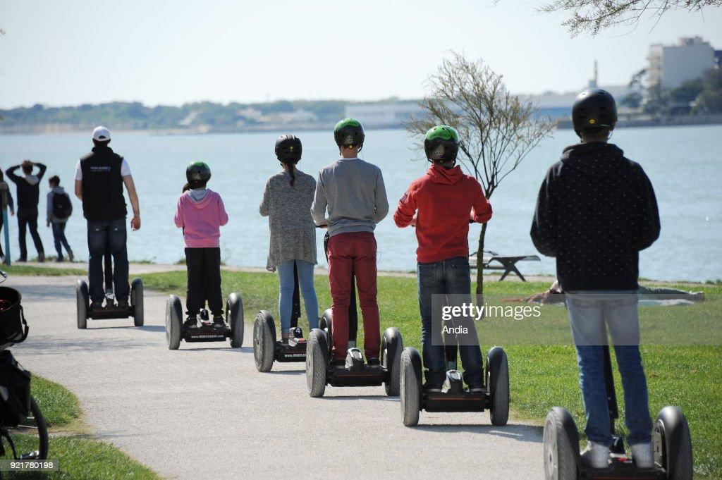 Segway city tour in La Rochelle. : News Photo