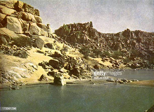 Sehel on the road to Nubia Egypt Island situated on the Nile Photograph from book of 1923