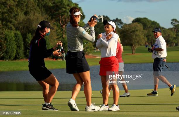 Sei Young Kim of Korea celebrates after winning the Pelican Women's Championship at Pelican Golf Club on November 22, 2020 in Belleair, Florida.
