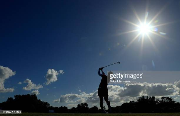 Sei Young Kim of Korea hits her tee shot on the 12th hole during the second round of the Pelican Women's Championship at Pelican Golf Club on...