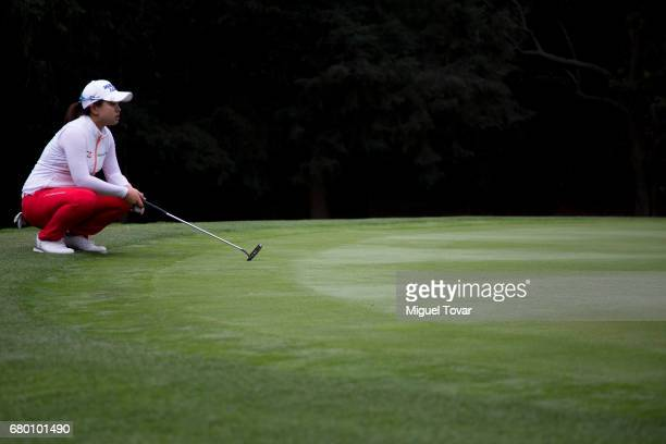 Sei Young Kim of South Korea lines up her putt during the final round of the Citibanamex Lorena Ochoa Match Play Presented by Aeromexico and Delta at...