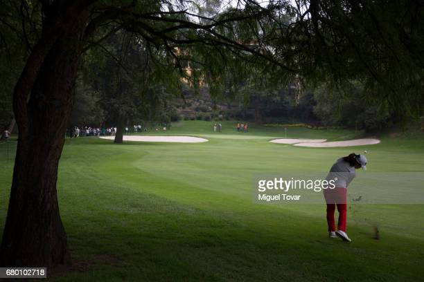 Sei Young Kim of South Korea plays a tee shot during the final round of the Citibanamex Lorena Ochoa Match Play Presented by Aeromexico and Delta at...