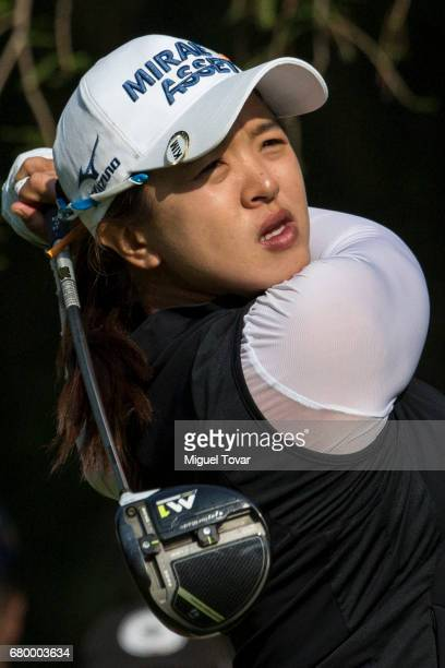 Sei Young Kim of South Korea plays her drive during the final round of the Citibanamex Lorena Ochoa Match Play Presented by Aeromexico and Delta at...