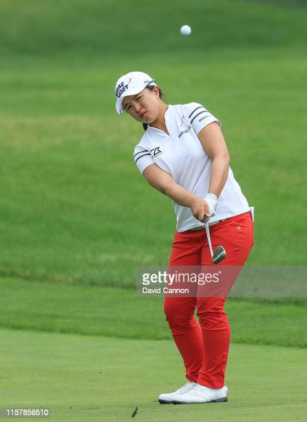 Sei Young Kim of South Korea plays her third shot on the par 5 15th during the final round of the 2019 KPMG Women's PGA Championship at Hazeltine...