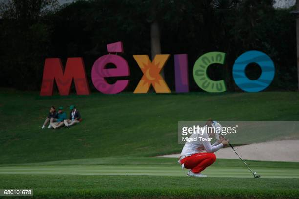 Sei Young Kim of South Korea reacts after missing a putt in the eighteen hole the final round of the Citibanamex Lorena Ochoa Match Play Presented by...