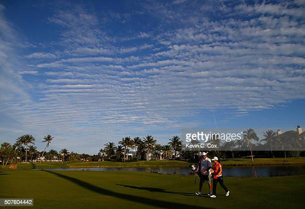 Sei Young Kim of South Korea walks off the 16th green during the third round of the Pure Silk Bahamas LPGA Classic at the Ocean Club Golf Course on...