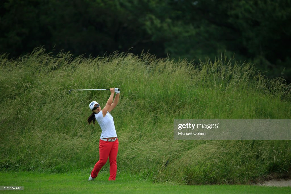 Sei Young Kim of the Republic of Korea hits her second shot on the third hole during the third and final round of the ShopRite LPGA Classic Presented by Acer on the Bay Course at Stockton Seaview Hotel and Golf Club on June 10, 2018 in Galloway, New Jersey.