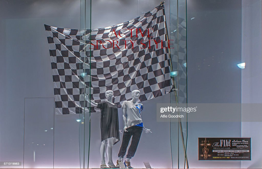 seibu window display tokyo japan pictures getty images