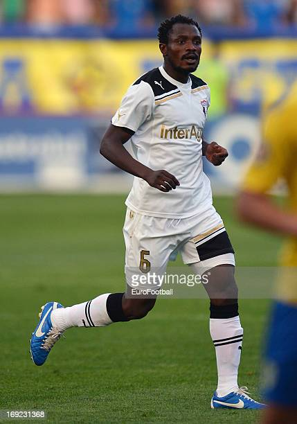 Seidu Yahaya of FC Astra Ploiesti in action during the Romanian First Division match between FC Petrolul Ploiesti and FC Astra Ploiesti held on May...