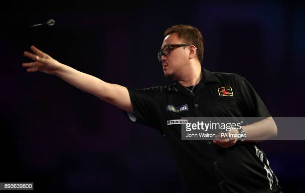 Seigo Asada during his match against Gordon Mathers during day two of the William Hill World Darts Championship at Alexandra Palace London