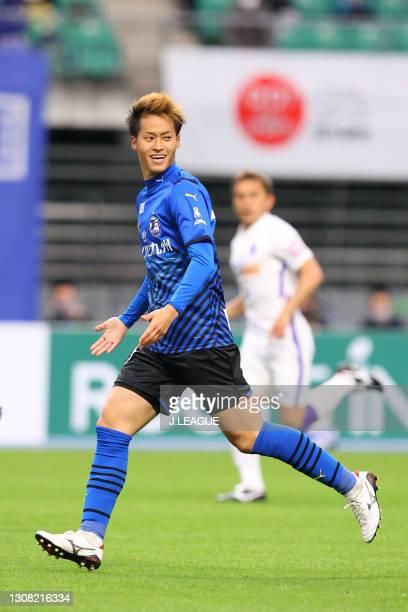 Seigo KOBAYASHI of Oita Trinita in action during the J.League Meiji Yasuda J1 match between Oita Trinita and Sanfrecce Hiroshima at Showa Denko Dome...