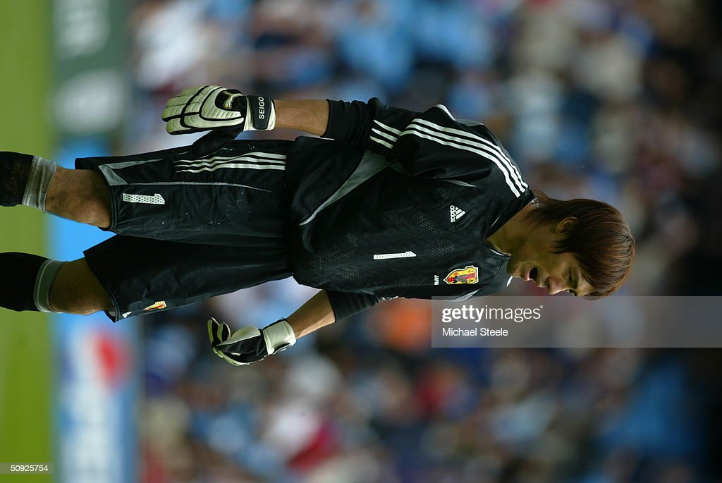 Seigo Narazaki of Japan during the FA Summer Tournament friendly international match between Iceland and Japan at the City of Manchester Stadium on May 30, 2004 in Manchester, England.