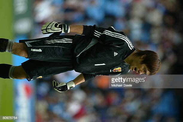 Seigo Narazaki of Japan during the FA Summer Tournament friendly international match between Iceland and Japan at the City of Manchester Stadium on...