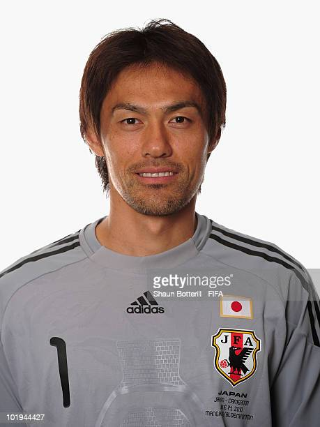 Seigo Narazaki of Japan poses during the official FIFA World Cup 2010 portrait session on June 9, 2010 in George, South Africa.