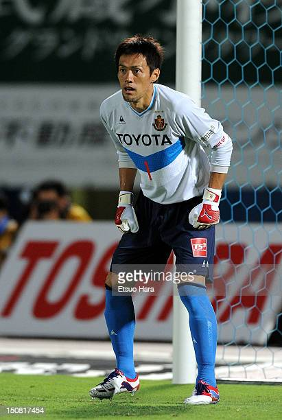 Seigo Narazaki of Nagoya Grampus in action during the J.League match between Kawasaki Frontale and Nagoya Grampus at Todoroki Stadium on August 25,...