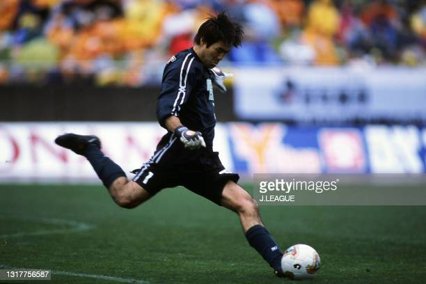Seigo Shimokawa of Cerezo Osaka in action during the J.League J1 first stage match between Shimizu S-Pulse and Cerezo Osaka at the Shizuoka...