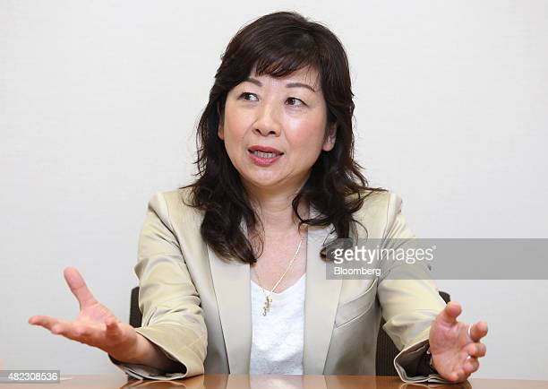 Seiko Noda a lawmaker from the Liberal Democratic Party speaks during an interview in Tokyo Japan on Wednesday July 29 2015 Noda who's been mentioned...