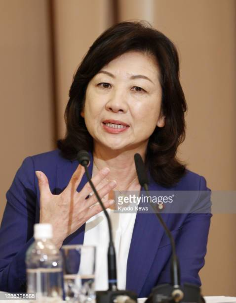 Seiko Noda, executive acting secretary general of the ruling Liberal Democratic Party, speaks at a Japan National Press Club-sponsored debate in...