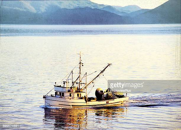 sein fishing in alaskan waters - fishing industry stock pictures, royalty-free photos & images