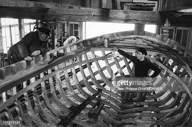 Sein Island Tanguy Studio Artisans Making Boat In 1953
