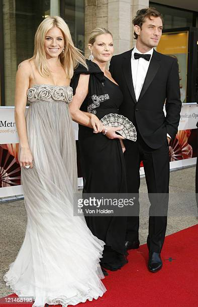 Seina Miller Josephine Miller and Jude Law during 'Madama Butterfly' Opening Night Starting the Lincoln Center Metropolitan Opera 20062007 Season at...