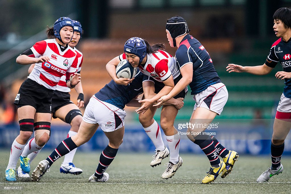 Seina Saito Japan Captain (c) during the Womens Rugby World Cup 2017 Qualifier match between Hong Kong and Japan on December 17, 2016 in Hong Kong, Hong Kong.