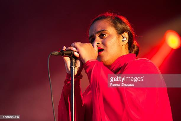 Seinabo Sey performs onstage during the second day of the Bravalla Festival on June 26, 2015 in Norrkoping, Sweden.