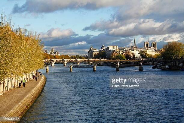 Seine, Pont des Arts, Ile de la Cite, Paris