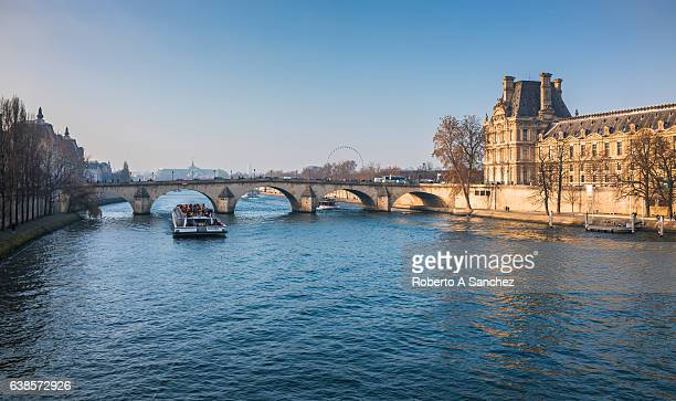 Seine River and Louvre museum