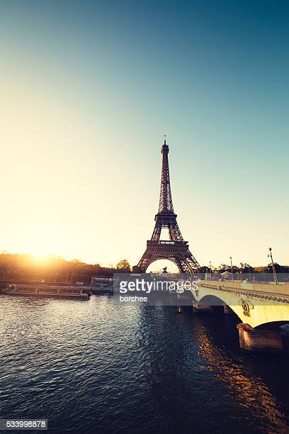 Seine River With Eiffel Tower