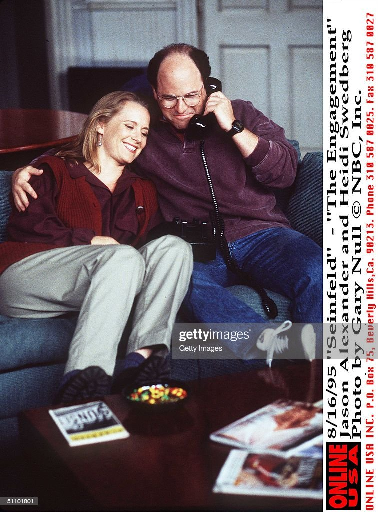 Seinfeld The Engagement Jason Alexander And Heidi Swedberg : News Photo
