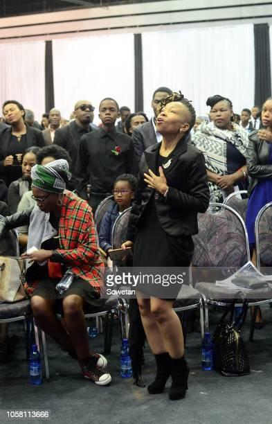 Seipati Twasa Seoke during the funeral service of the late musician Jabulani 'HHP' Tsambo at Mmabatho Convention Centre on November 03, 2018 in...