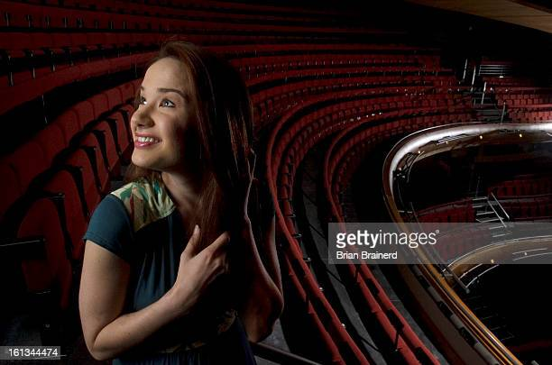 seirra17 DENVER CO July 16 2007 Denver native Sierra Boggess photographed in the Ellie Caulkins Opera House where she will be starring as Ariel in...