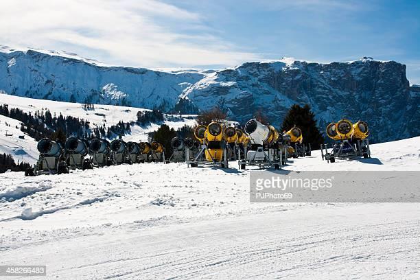 Seiser Alm (Dolomites) - Group of snow gun
