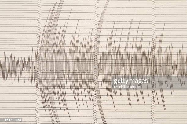 seismograph with earthquake indication - earthquake stock pictures, royalty-free photos & images