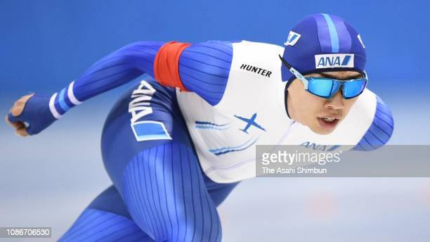 Seitaro Ichinohe competes in the Men's 5000m on day one of the 86th All Japan Speed Skating Championships at Hokkaido Tokachi Oval on December 25...