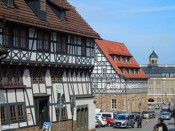 Seitenansicht des LutherHauses aufgenommen in Eisenach am 30 April 2012