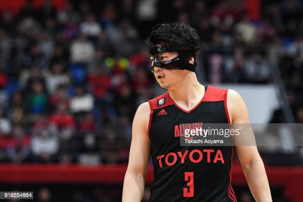 Seiya Ando of the Alvark Tokyo looks on during the BLeague match between Alverk Tokyo and Kawasaki Brave Thunders at the Arena Tachikawa Tachihi on...
