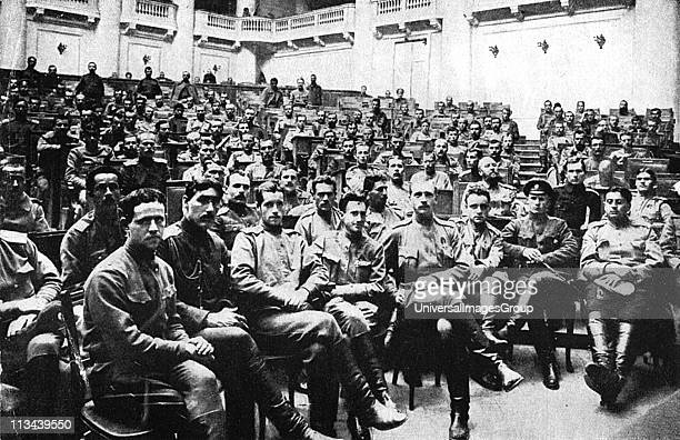 Seizure of Russian Parliament in Petrograd by revolutionary soldiers 1917