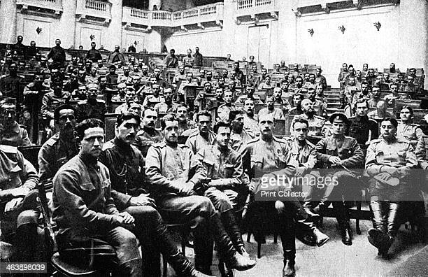 Seizure of the Russian Parliament in Petrograd by revolutionary soldiers Russia 1917
