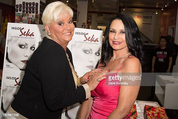 """Seka (Dorothea Patton and Rita Daniels promotes """"Inside Seka"""" at the Museum of Sex on September 30, 2013 in New York City."""