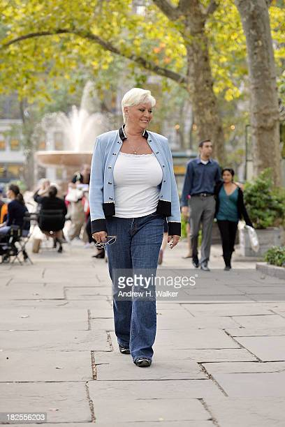 Seka poses for a private photo shoot inside Bryant Park on September 30 2013 in New York City