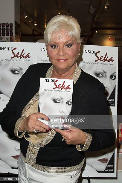 Seka promotes Inside Seka at the Museum of Sex on September 30 2013 in New York City