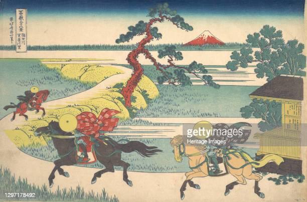 Sekiya Village on the Sumida River , from the series Thirty-six Views of Mount Fuji , circa 1830-32. Artist Hokusai.