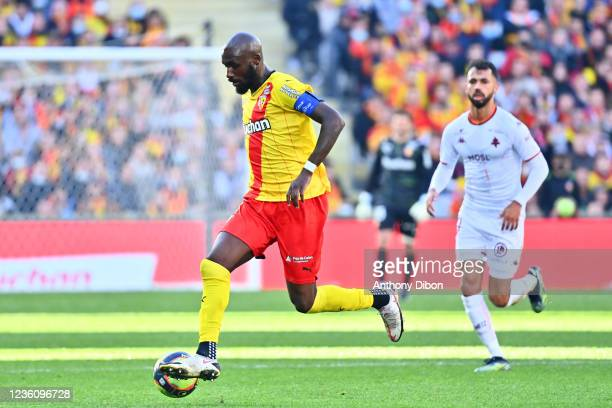 Seko FOFANA of Rc Lens during the Ligue 1 Uber Eats match between Lens and Metz at Stade Bollaert-Delelis on October 24, 2021 in Lens, France.