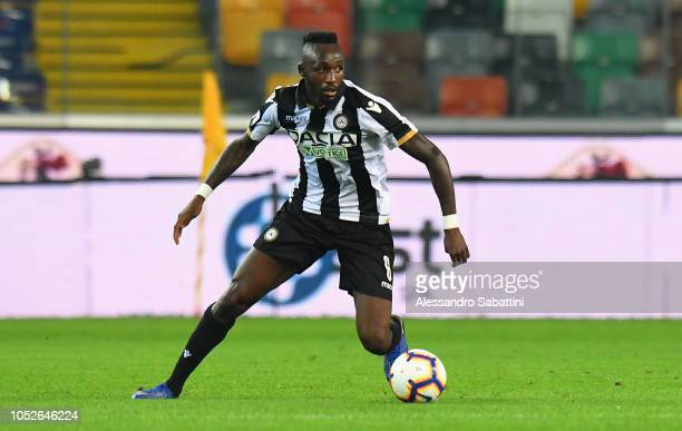 Seko Fofana of Udinese Calcio in action during the Serie A match between Udinese and SSC Napoli at Stadio Friuli on October 20 2018 in Udine Italy